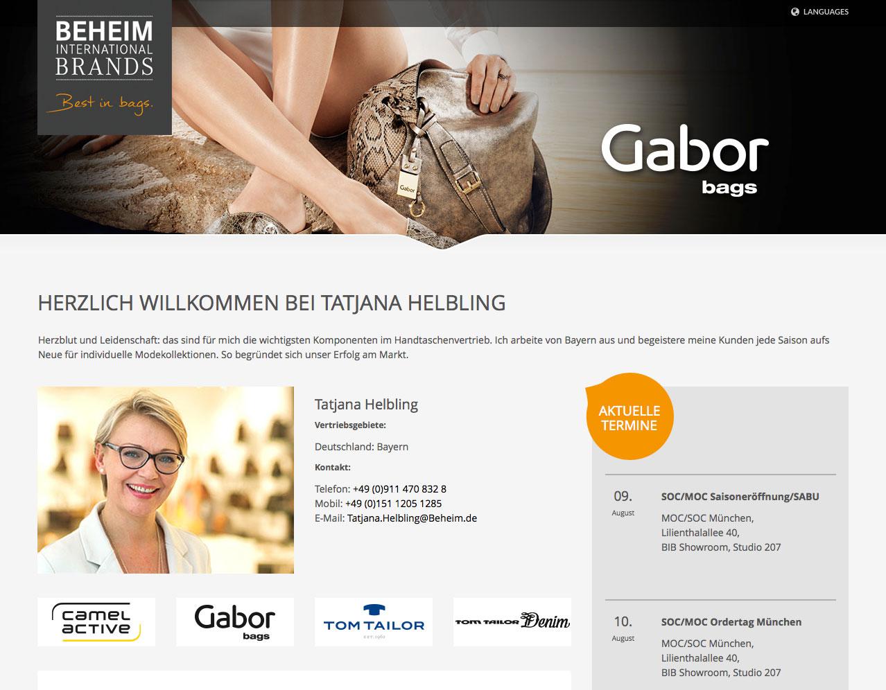 BIB-Vertreter Homepage – neues Informationsinstrument aus dem Hause Beheim International Brands, Obertshausen